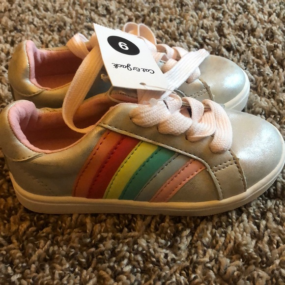 ada4a1d781e01 Brand new Cat   Jack silver rainbow toddler shoes
